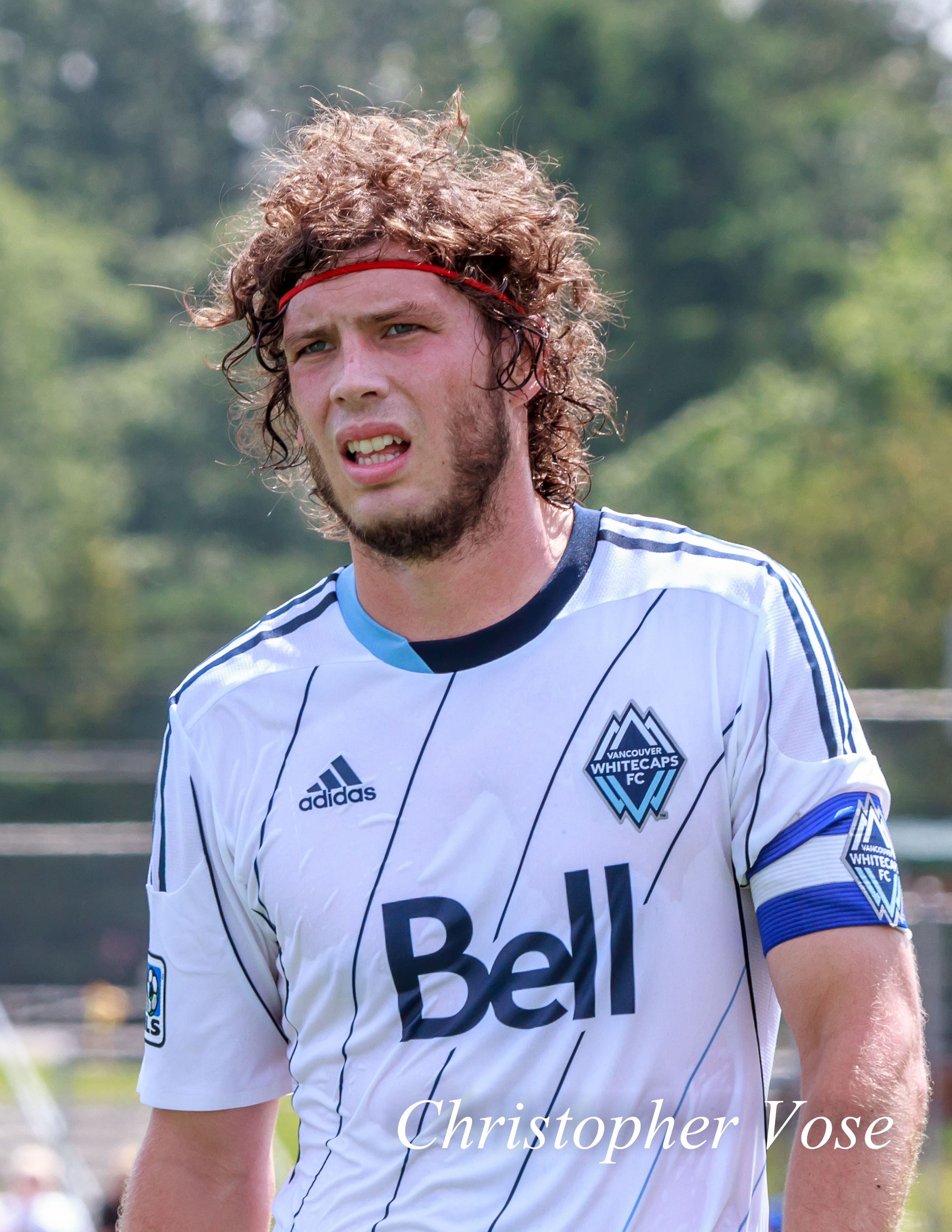 Tom Heinemann captains the Vancouver Whitecaps FC against Seattle Sounders FC in the MLS Reserve League at Willoughby Community Park on 7 July 2013.