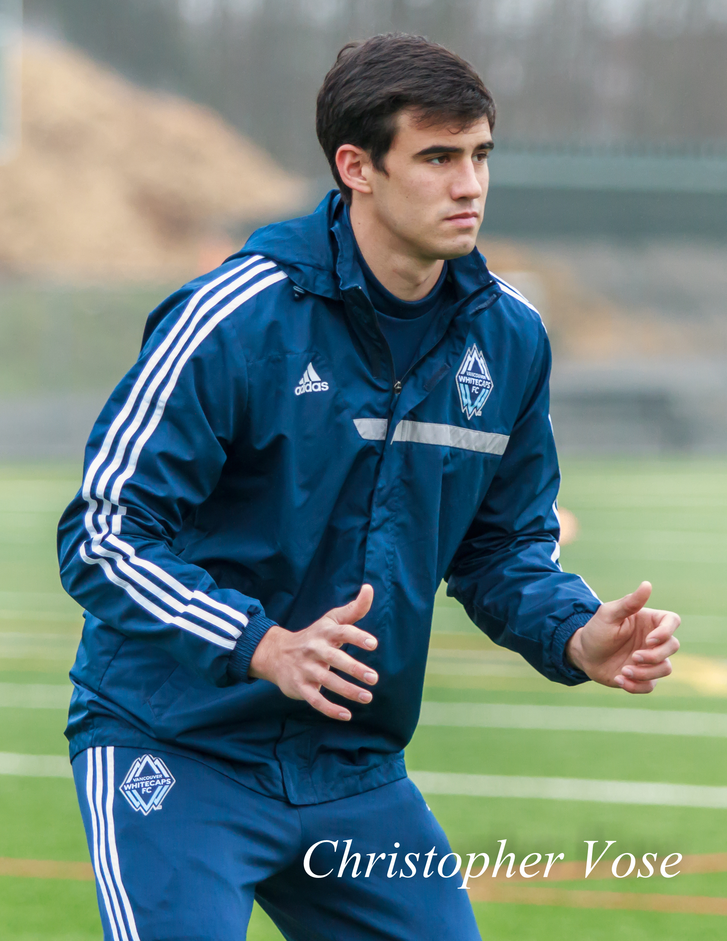 Omar Salgado at the Burnaby Lake Sports Complex on 11 February 203.