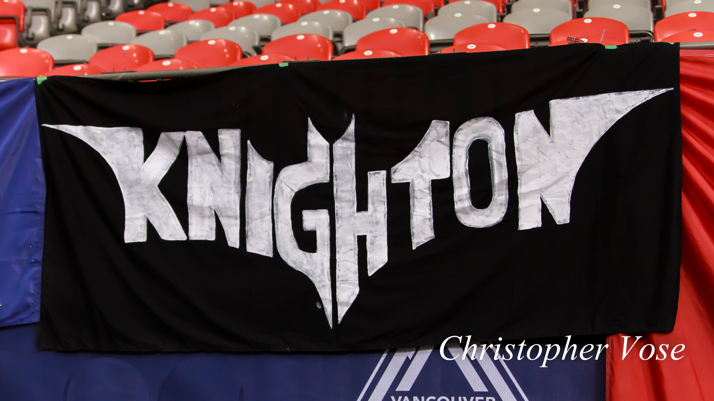 Na na na na na na na na naaah Knighton at BC Place on 2 March 2013.