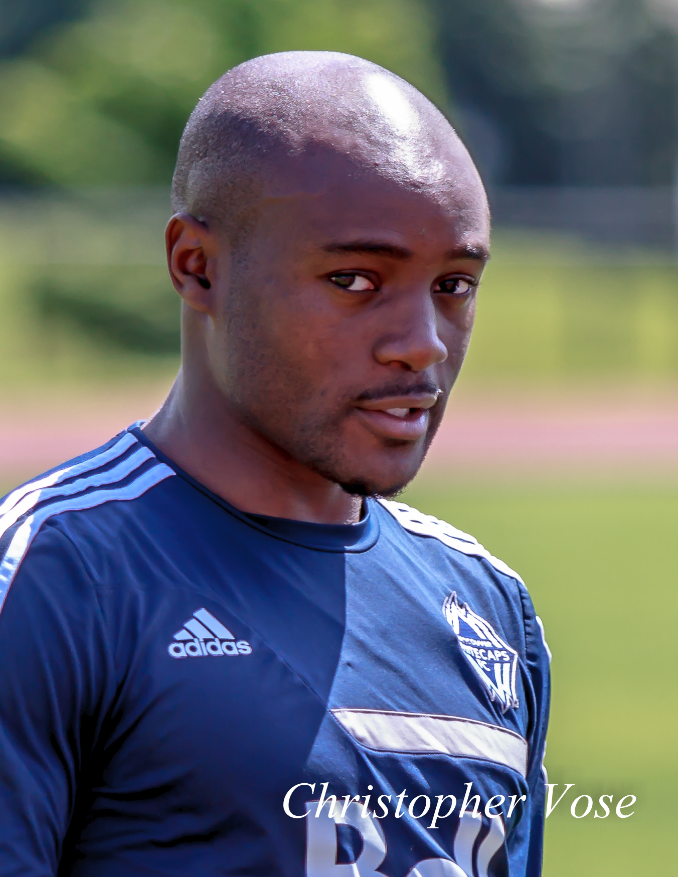 Nigel Reo-Coker sees something out of the corner of his eye at the National Soccer Development Centre on 10 July 2013.