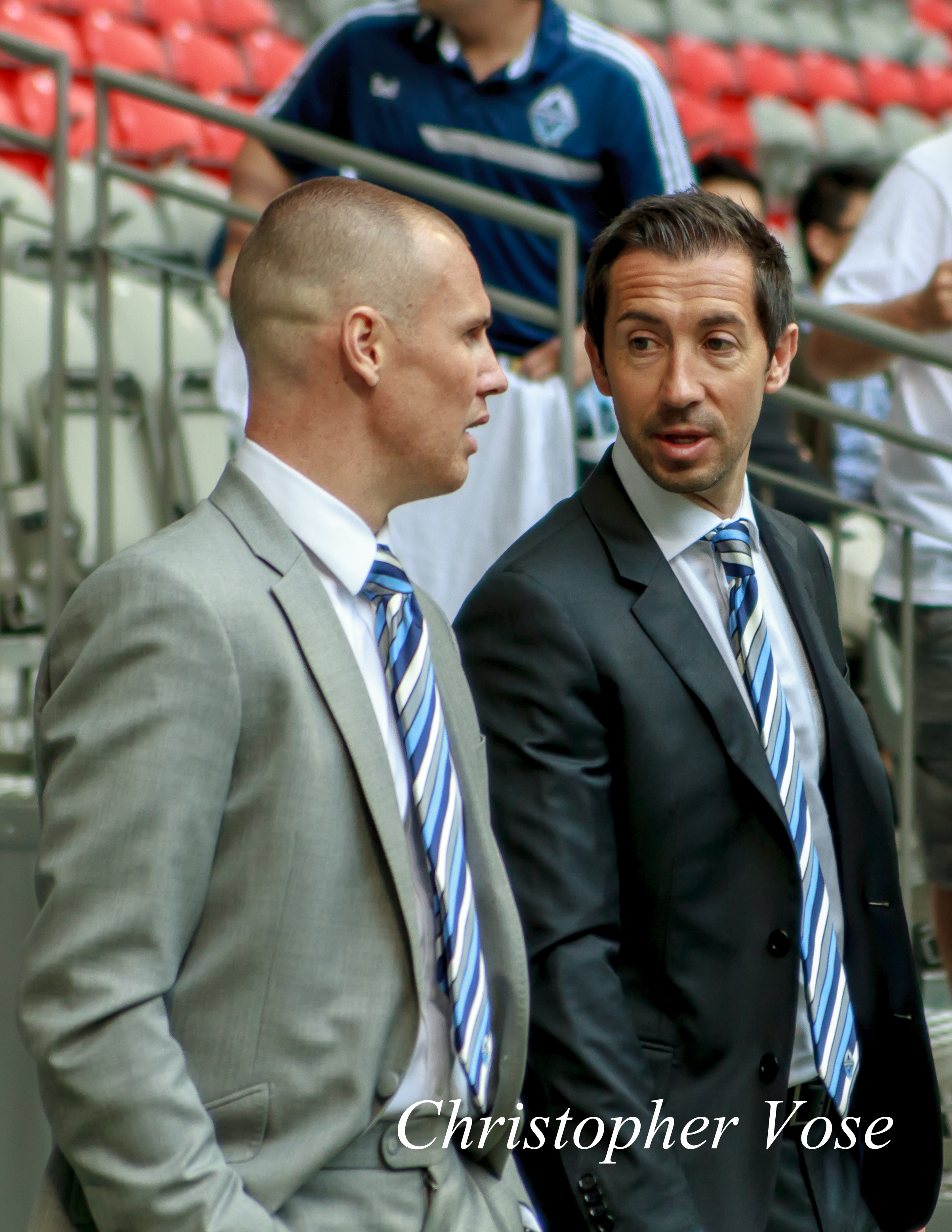 Kenny Miller and Martin Rennie look sharp as they enter BC Place on 11 May 2013.