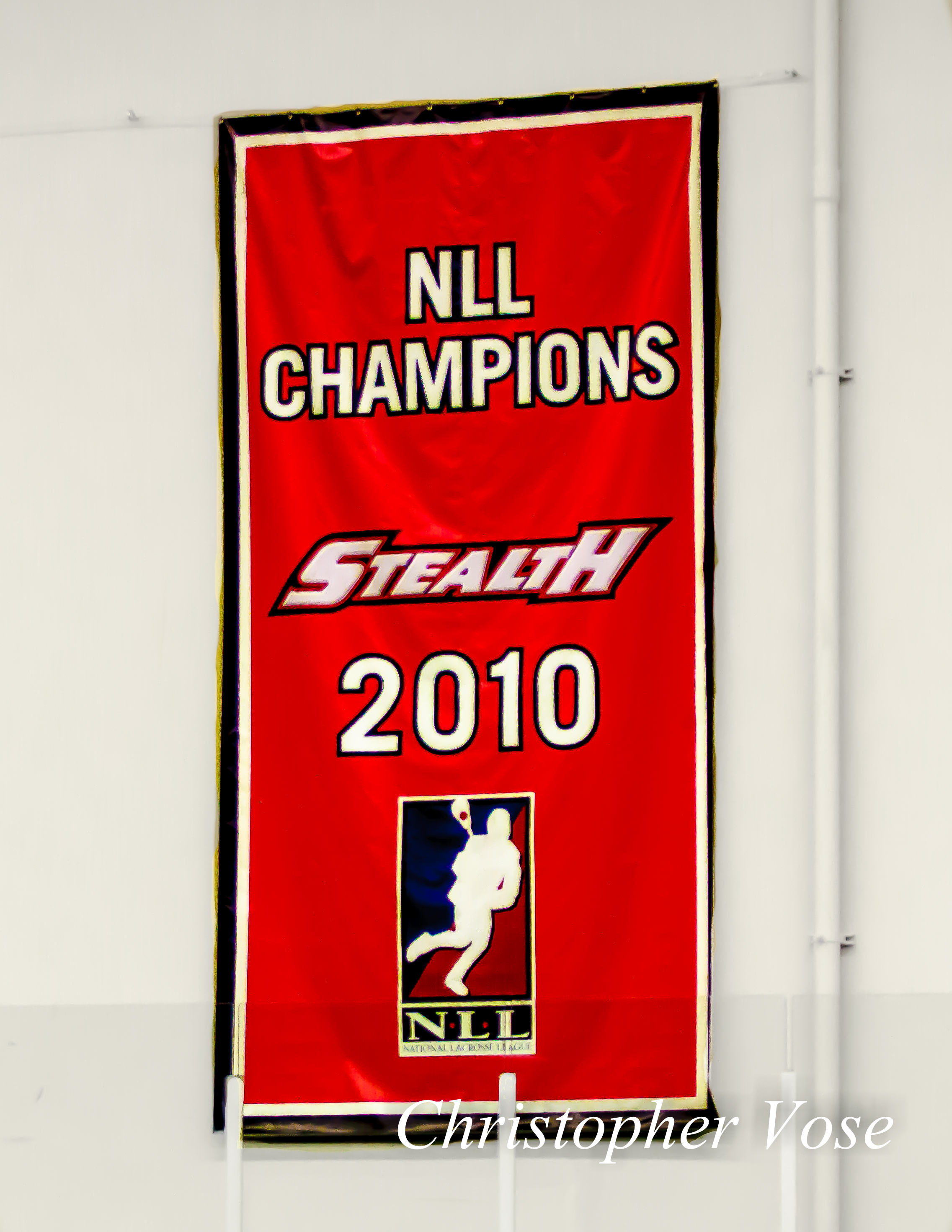 2013-12-21 Vancouver Stealth 2010 NLL Champions Banner.jpg