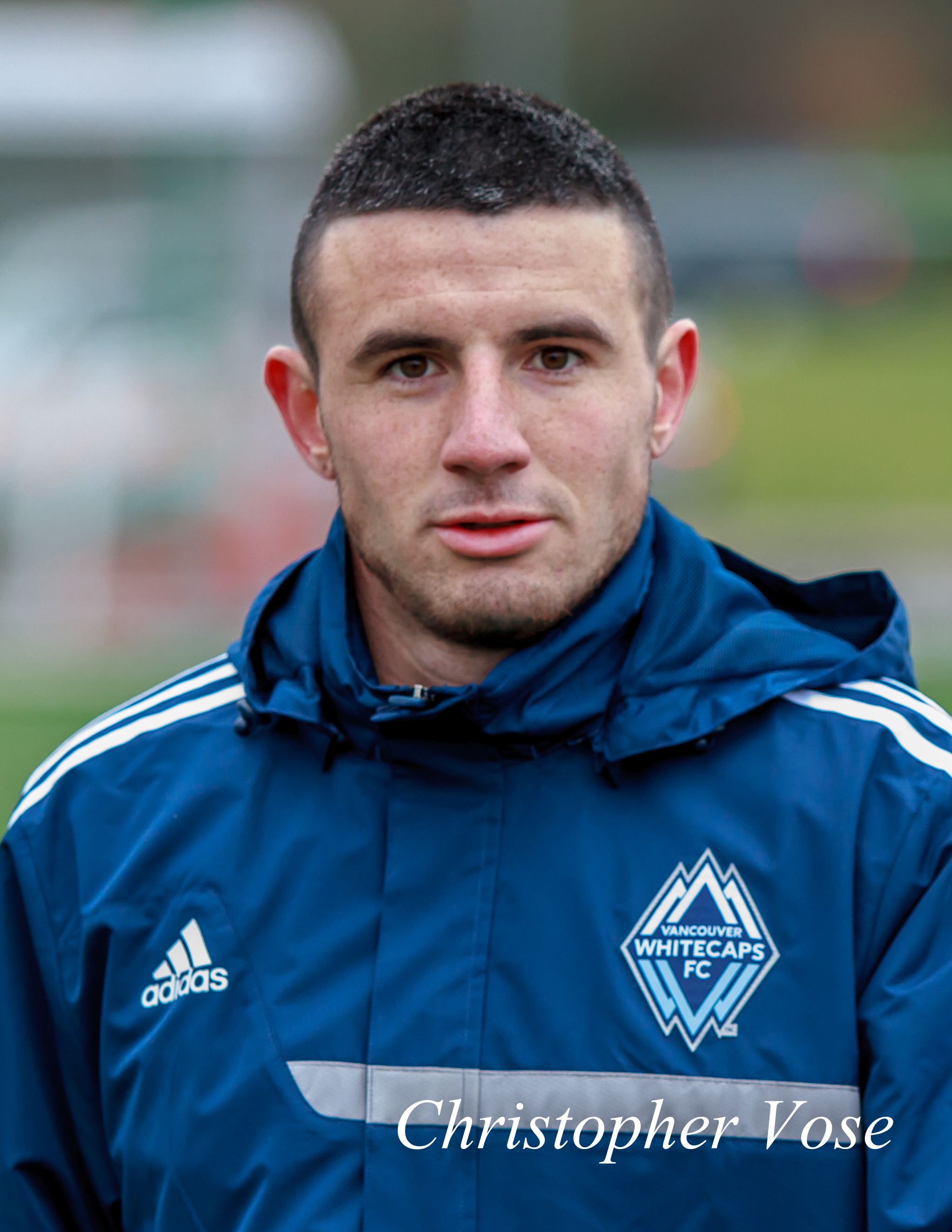 Andrés Fresenga at the Burnaby Lake Sports Complex during his trial with Vancouver Whitecaps FC on 9 February 2013.