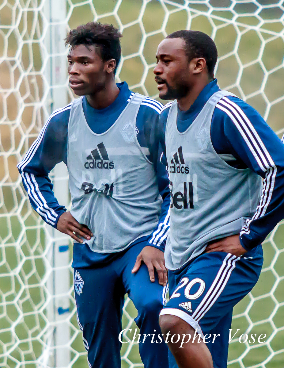 2014-01-28 Sam Adekugbe and Nigel Reo-Coker.jpg