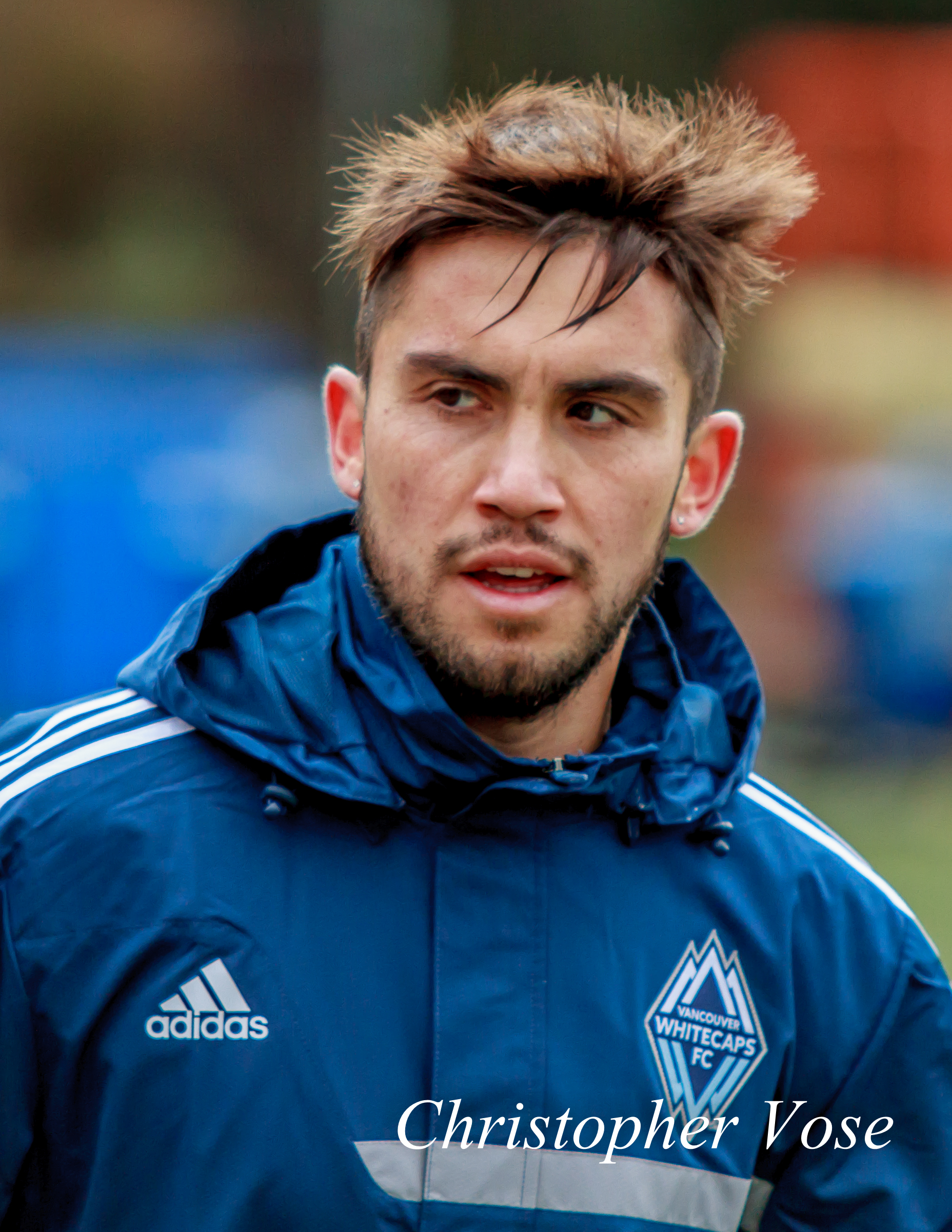 Pedro Morales at Thunderbird Stadium on 5 March 2014 in his first ever Vancouver Whitecaps FC Training Session.