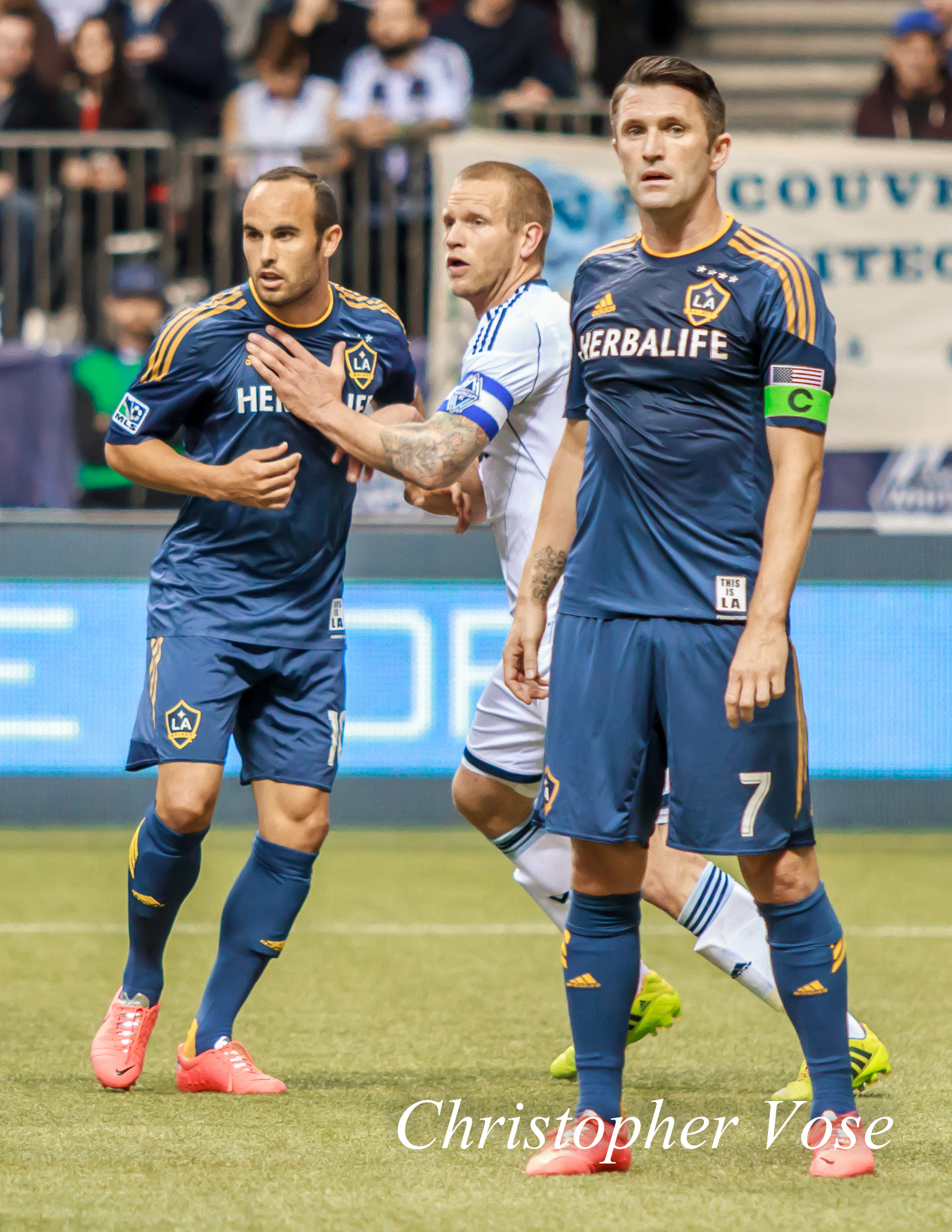 2014-04-19 Landon Donovan, Jay DeMerit, and Robbie Keane.jpg