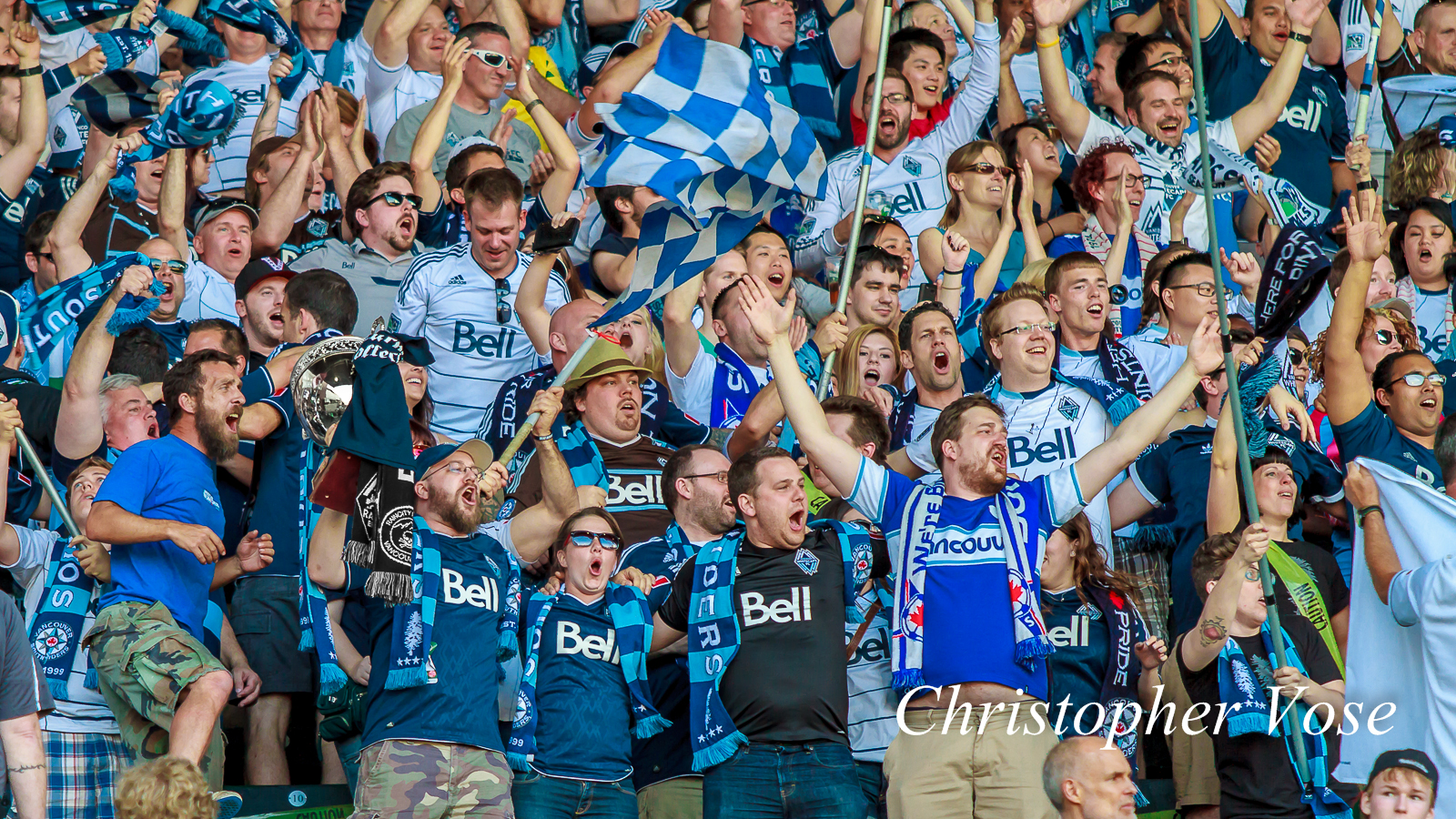 2014-06-01 Curva Collective, Rain City Brigade, and Vancouver Southsiders Goal Reaction (Morales' First).jpg