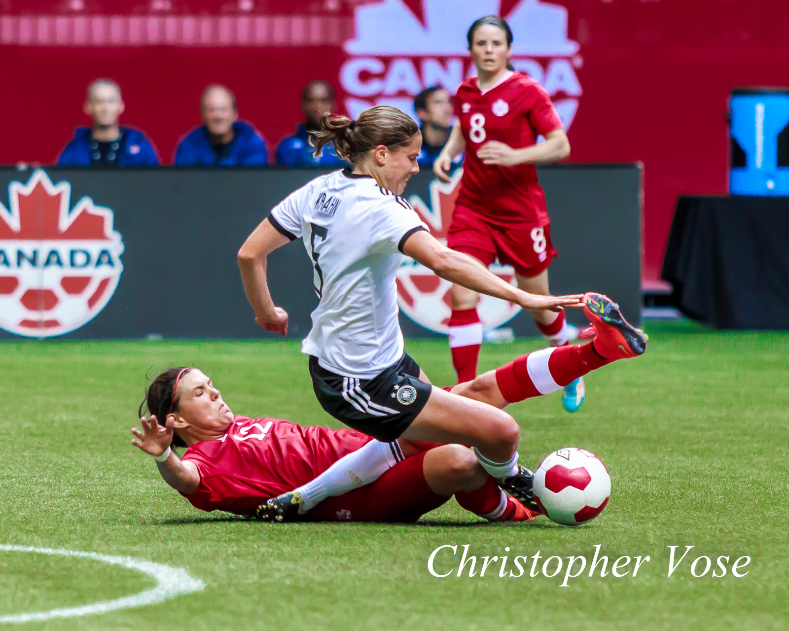 2014-06-18 Christine Sinclair and Annike Krahn.jpg