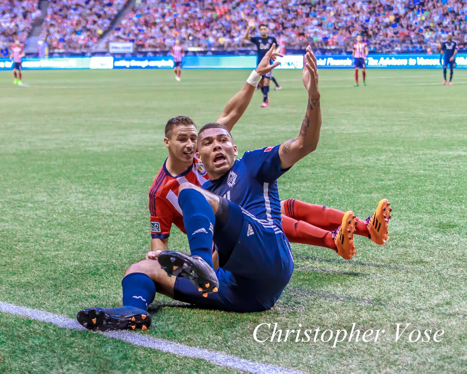 2014-07-12 Lenadro Barrera and Christian Dean.jpg