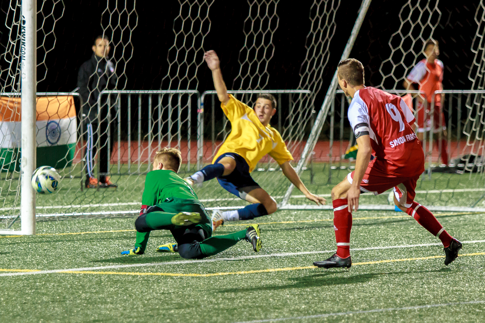 Jovan Blagojevic had the chance to win it in regulation, but Simon Fraser had to settle for a draw after 120 minutes.