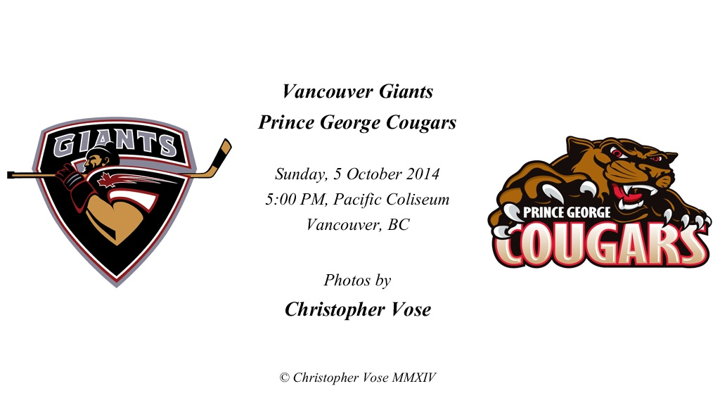 2014-10-05 Round 06; Vancouver Giants v Prince George Cougars.jpg