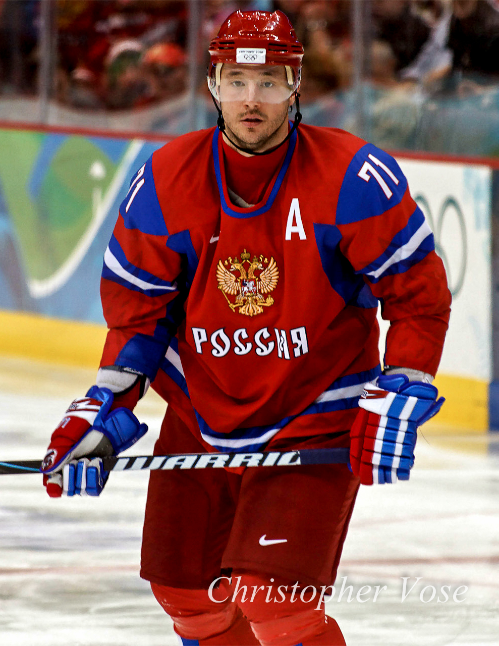 Ilya Kovalchuk at the 2010 Winter Olympics in Vancouver. Photo by S. Yume.
