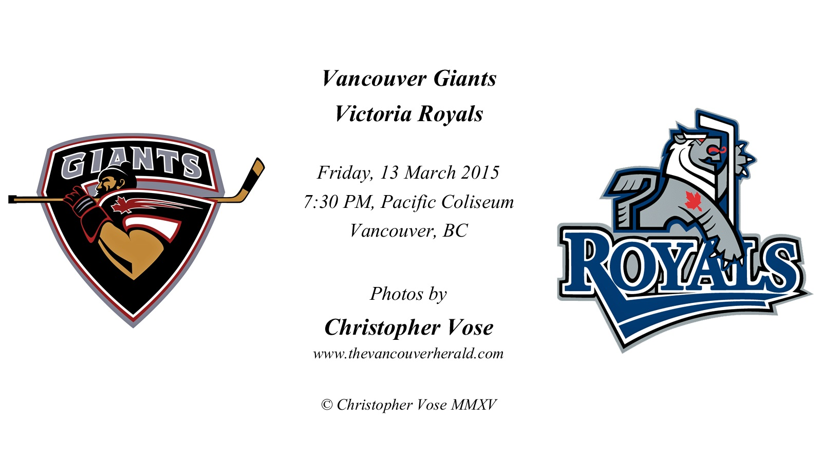 2015-03-13 Round 68; Vancouver Giants v Victoria Royals.jpg