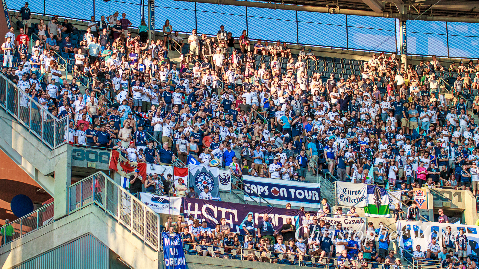 2015-08-01 Curva Collective, Rain City Brigade, and Vancouver Southsiders Goal Reaction (Kah's second).jpg