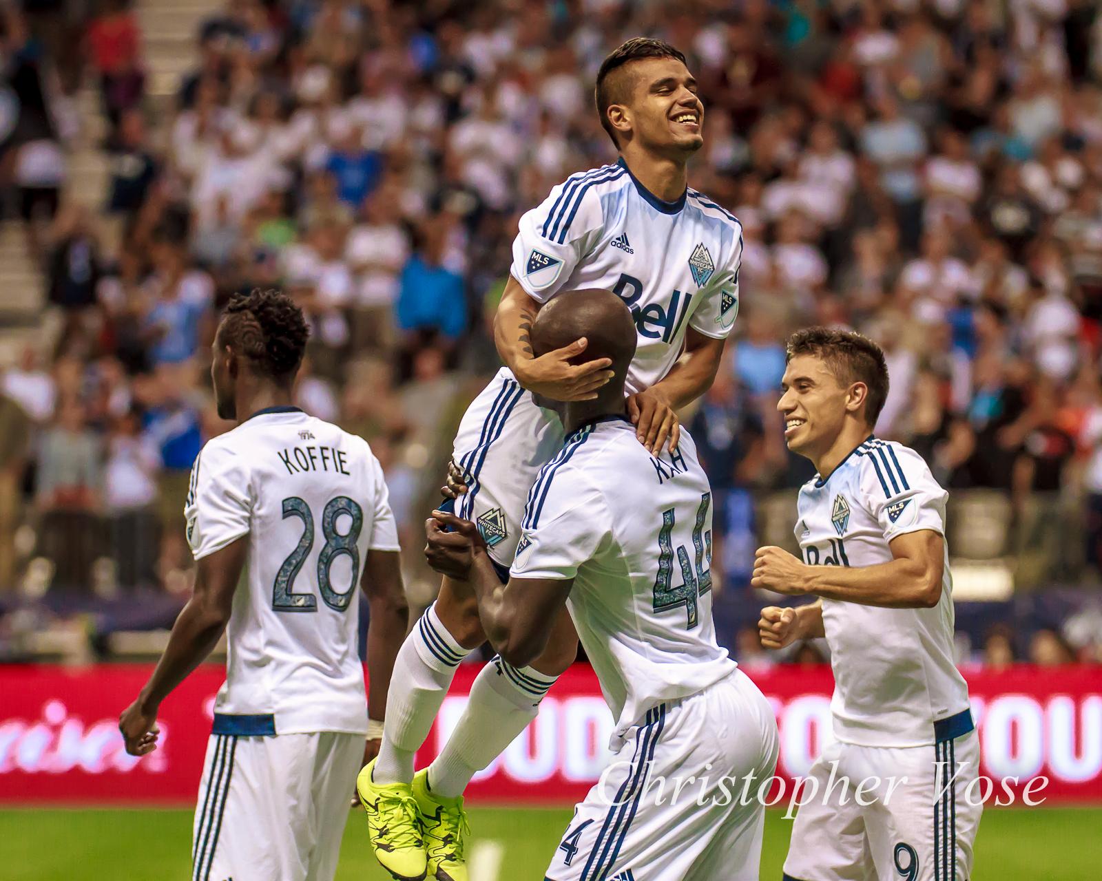2015-08-08 Cristian Techera's First Goal Celebration 2.jpg