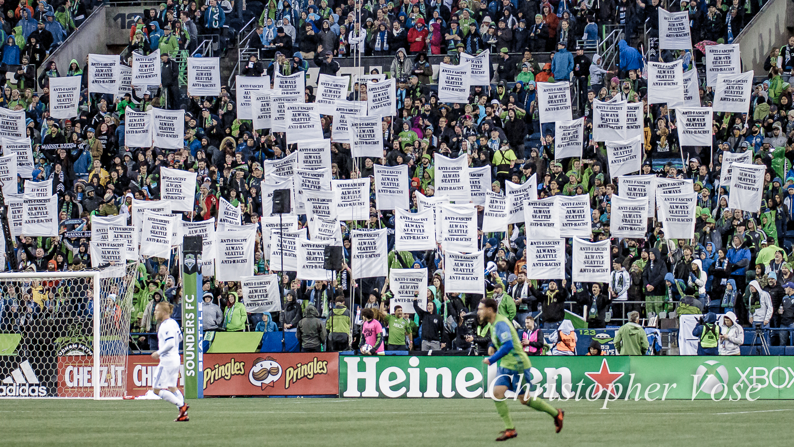 2017-11-02 Emerald City Supporters Anti-Fascist, Anti-Racist, Always Seattle Tifo.jpg