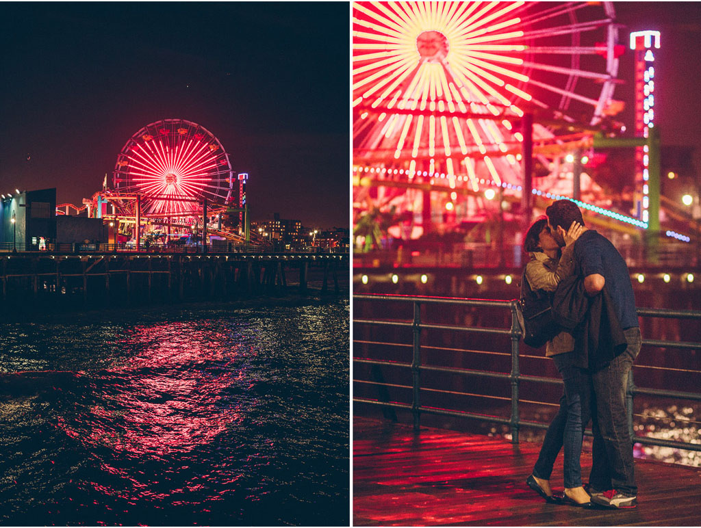 Alex + Julie | Santa Monica Pier | Santa Monica, California | www.vitaeweddings.com