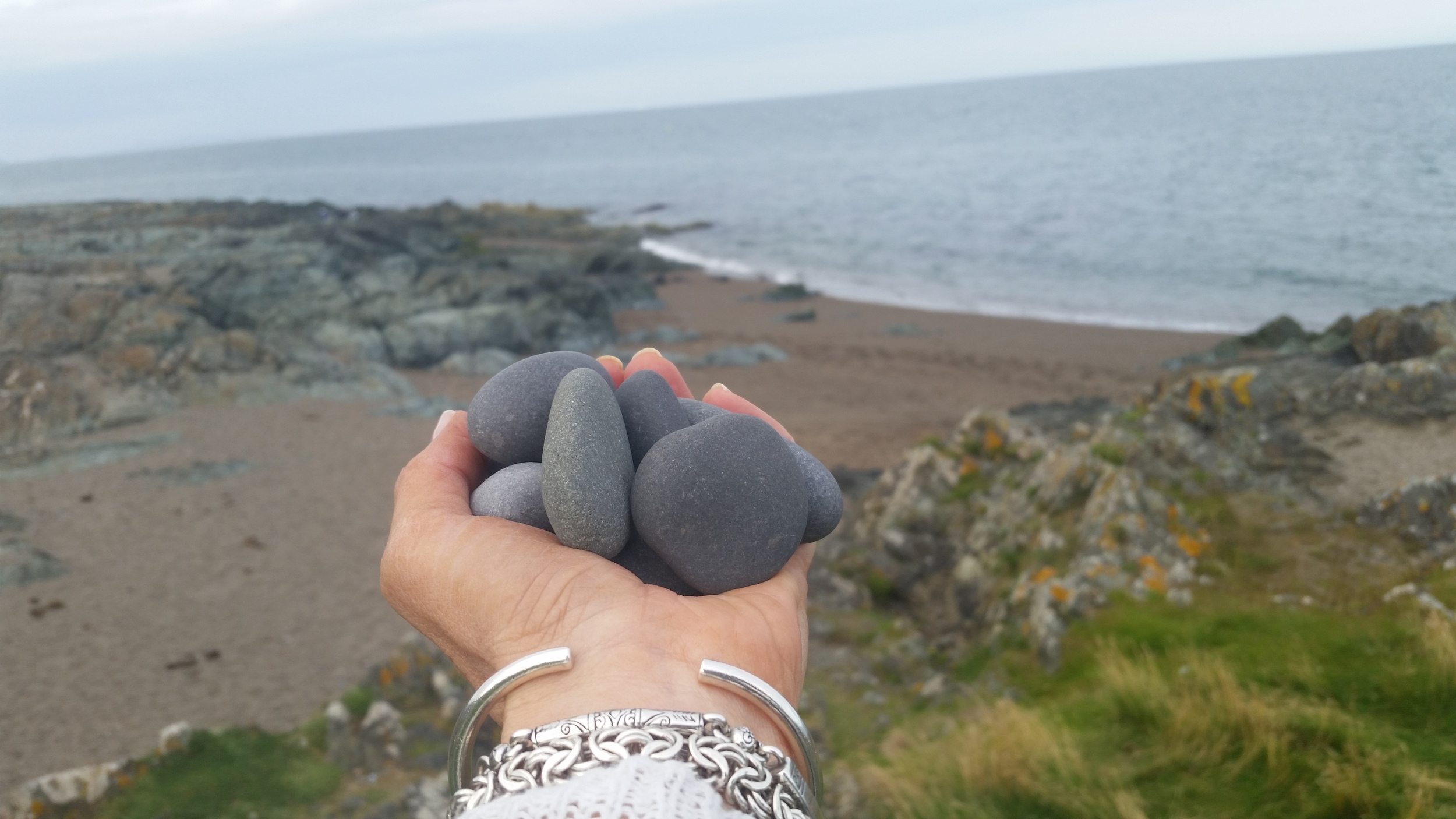 The gorgeous grey stones...brought these home with me.  Also, had an AMAZING lunch at The Happy Pear in Greystones! If you are ever in the area, you must stop by and check it out....healthy eating at its BEST.   www.thehappypear.ie