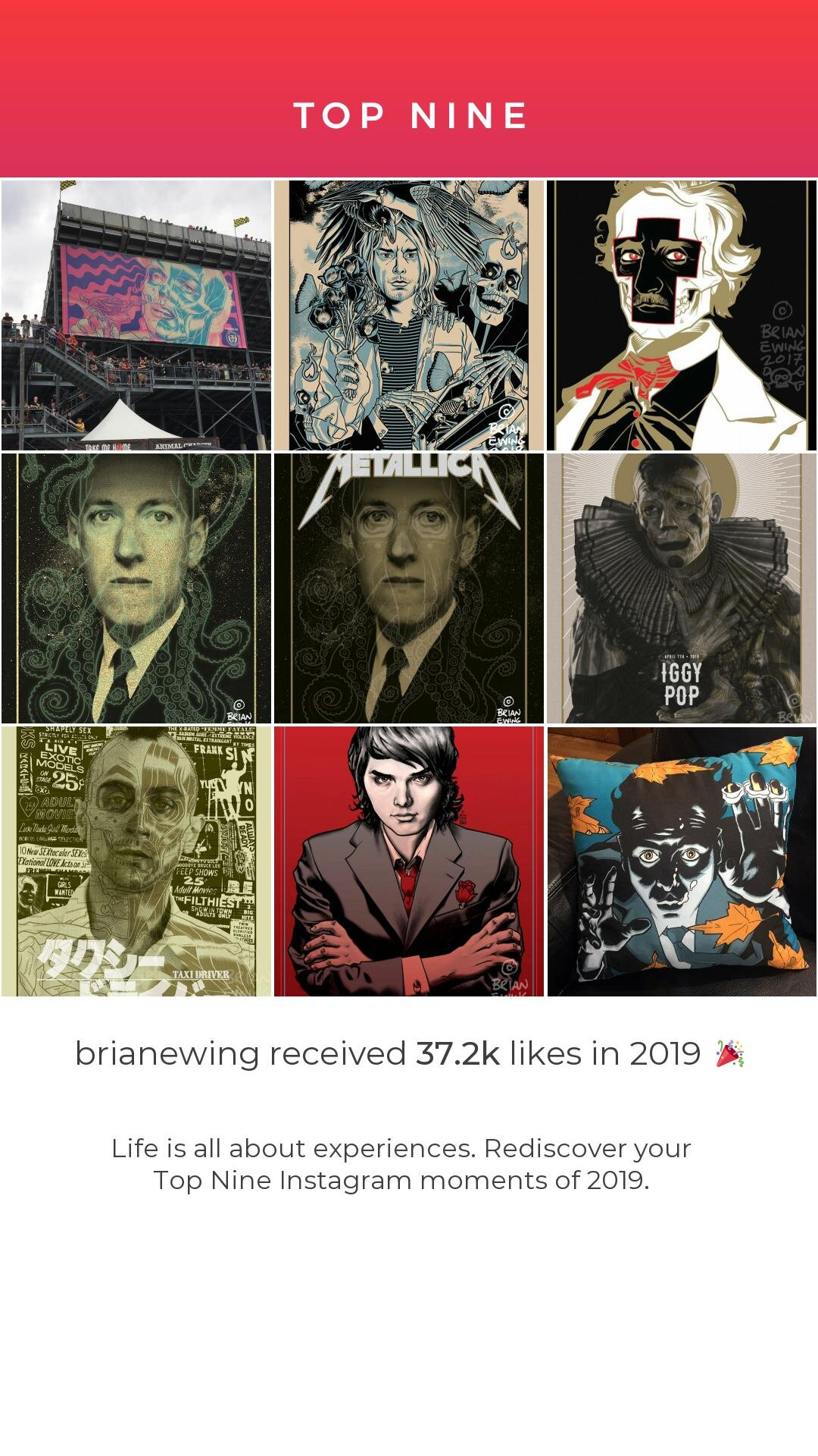 BRIAN EWING Art Print HASTA LA MUERTE Poster lithograph