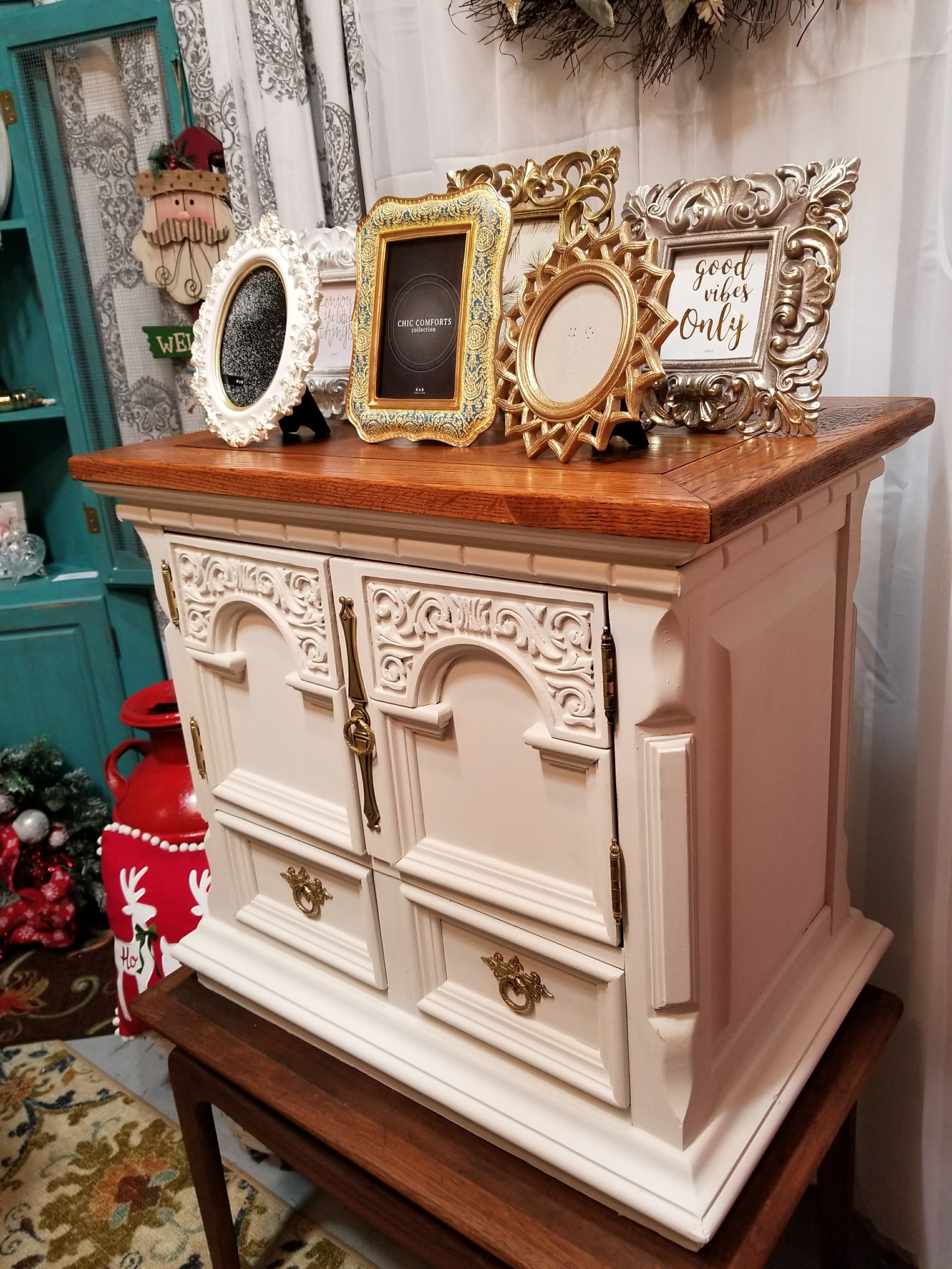 Link Taylor piece that took me out.  Old super heavy, super well-made nightstand.  Humph.