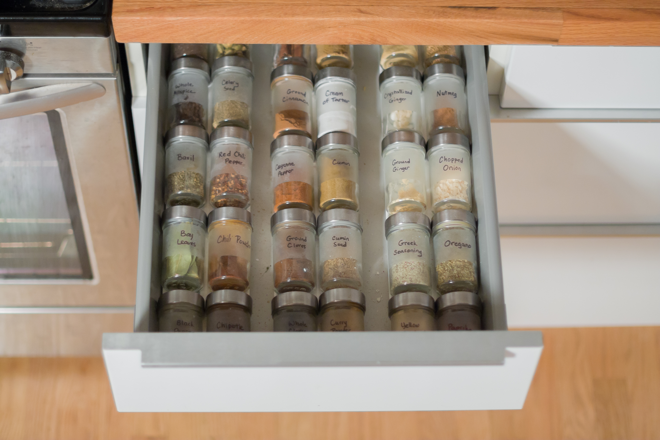 One of two spice drawers - probably my favorite feature in the whole kitchen!