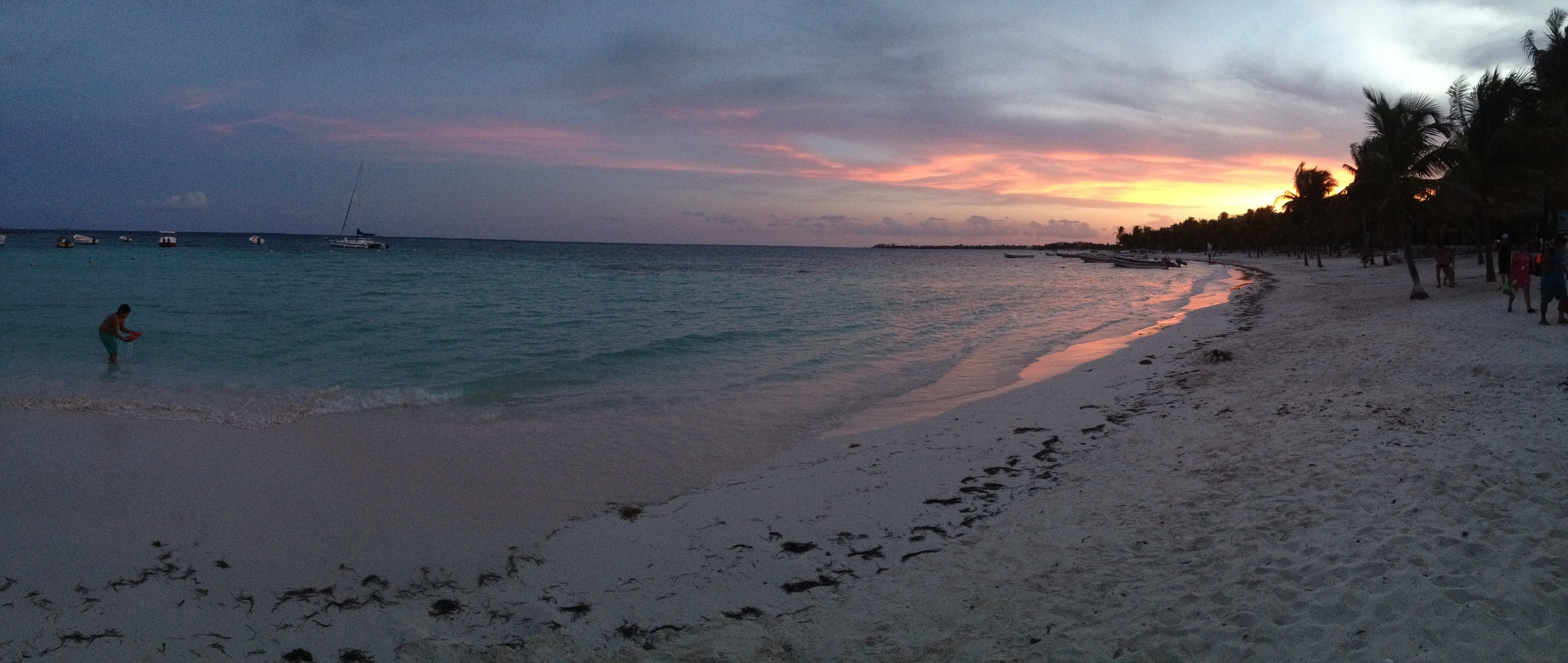 Sunset in Akumal on September 17, 2014. Day one of my journey!