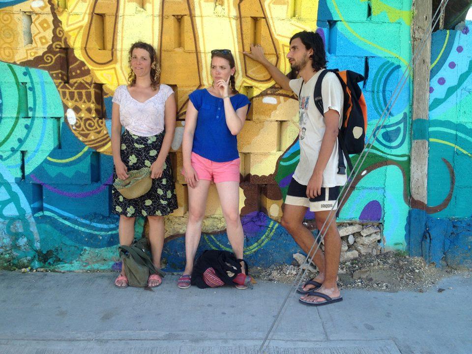 "Las artistas being ""serious"" in Tulum."