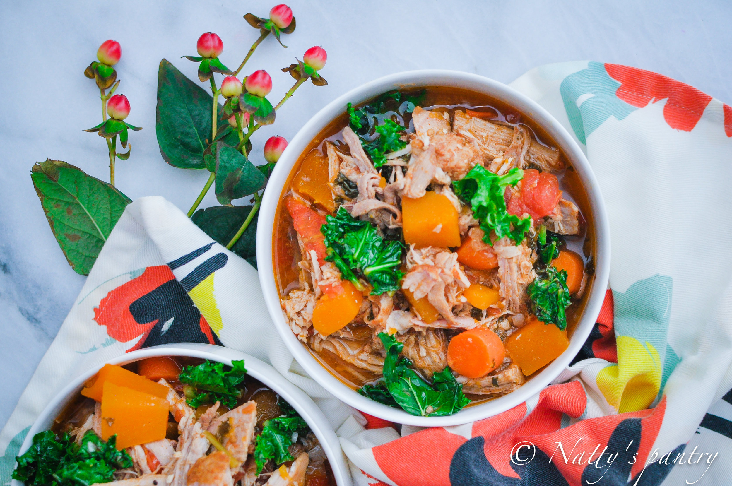 Roasted Pork Shoulder Stew with Butternut Squash, Tomato, and Kale Recipe522017.jpg