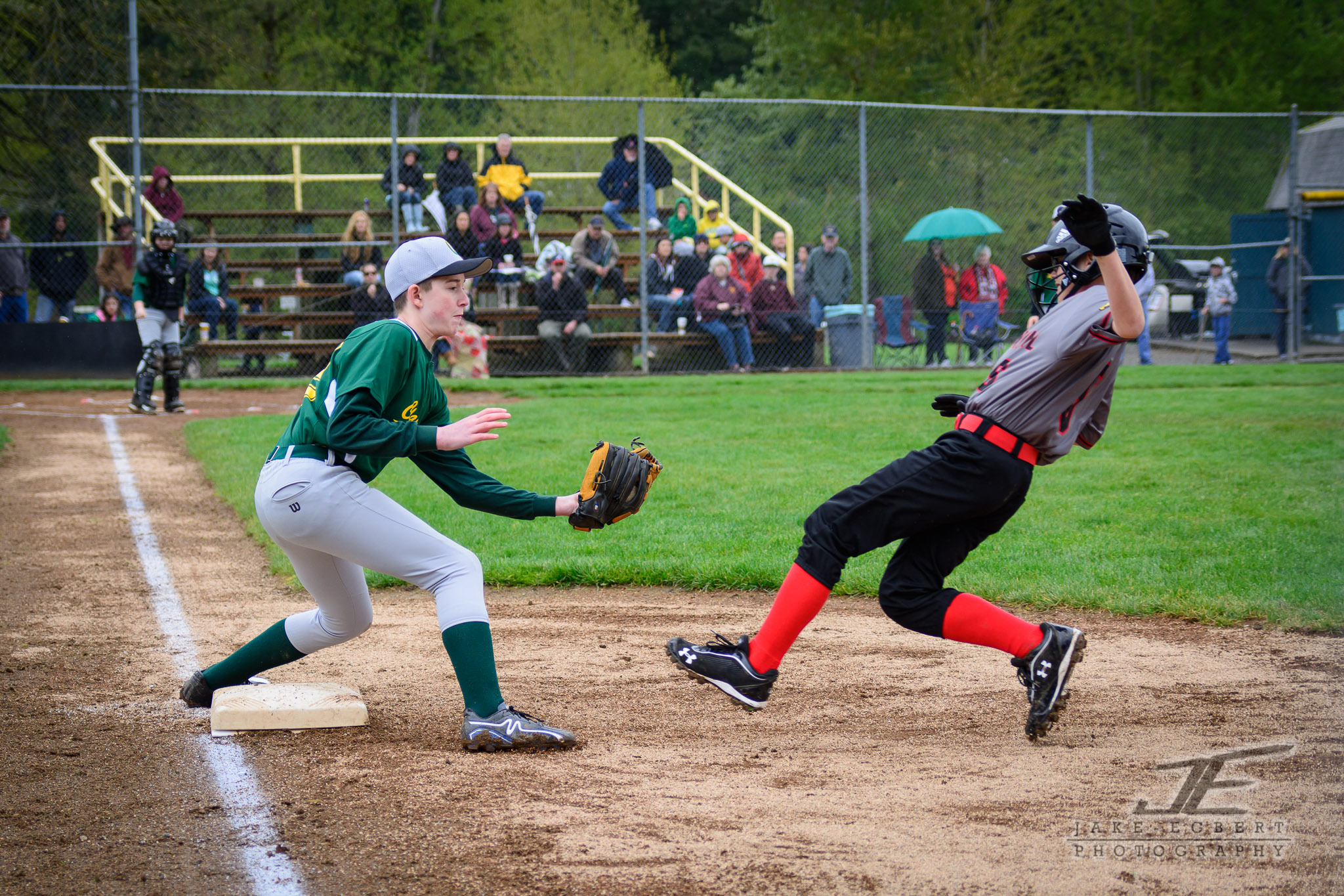 2014-04-05 -- Opening day for the CLL Majors Green Sox was a tough match-up with the Centennial Eagles.
