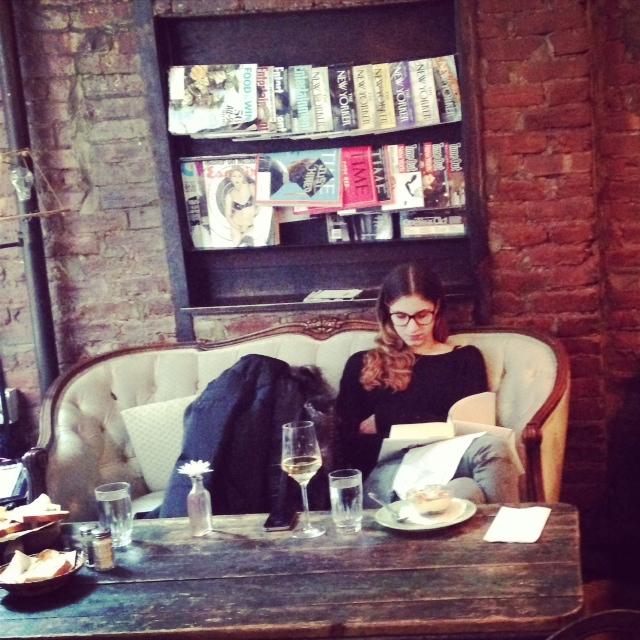 Stylish people reading