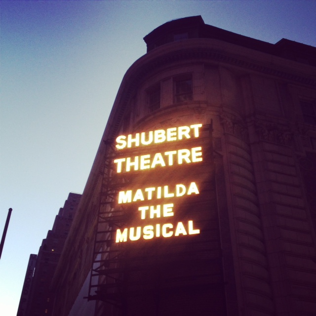 Matilda! The most bookish musical in town! So gorgeous.