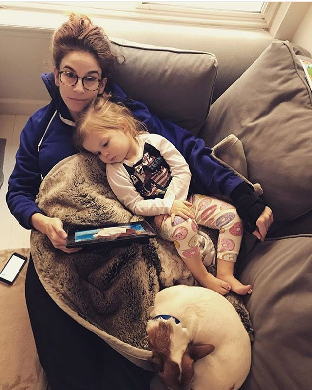 One of the best parts about going home to Michigan is seeing my girls and the little people they made. I'll miss you little babies, but I'll be back to visit soon. #wcw #oakleymerritt #brightonrigby #greygrizzle #bastienbash
