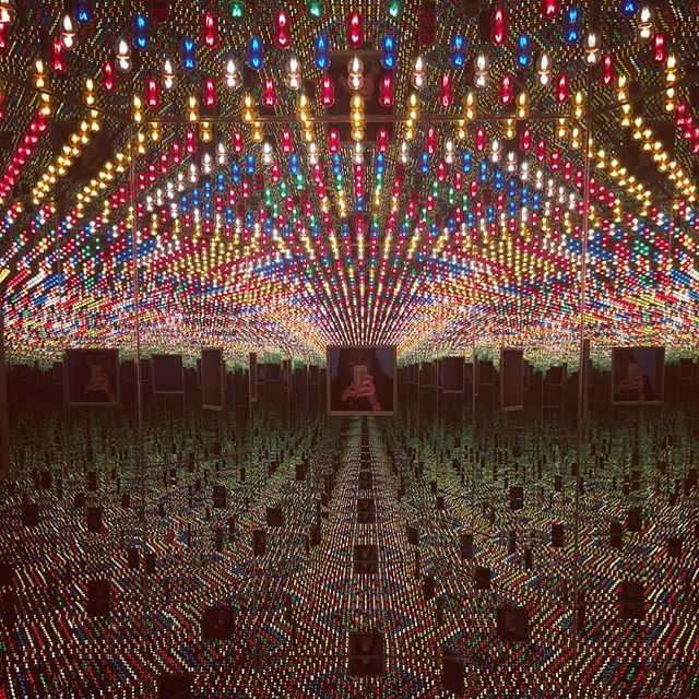 Finally got to see #infinitekusama today and it did not disappoint. #kusama #infinitymirrors #yayoikusama.