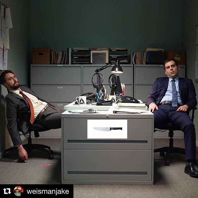 Jake was one of my first friends in comedy and tonight his brilliant creation is unleashed to the world. Congrats my dear! I'll never forget our open mic years (mainly because I'm sill in them) and I couldn't be happier for you. ❤️ #Repost @weismanjake ・・・ Tonight is the premiere of @corporate on @comedycentral. The first two episodes air at 10 and 10:30 pm and then every Wednesday at 10 pm for the next 8 weeks. I created the show with geniuses @mattingebretson and Pat Bishop (@terribletown) and it is the product of years of hard work. We were privileged to work on the show with so many brilliant and talented humans. It is the greatest thing I've ever been a part of. I think you will truly love it. Please watch it and spread the word!!!