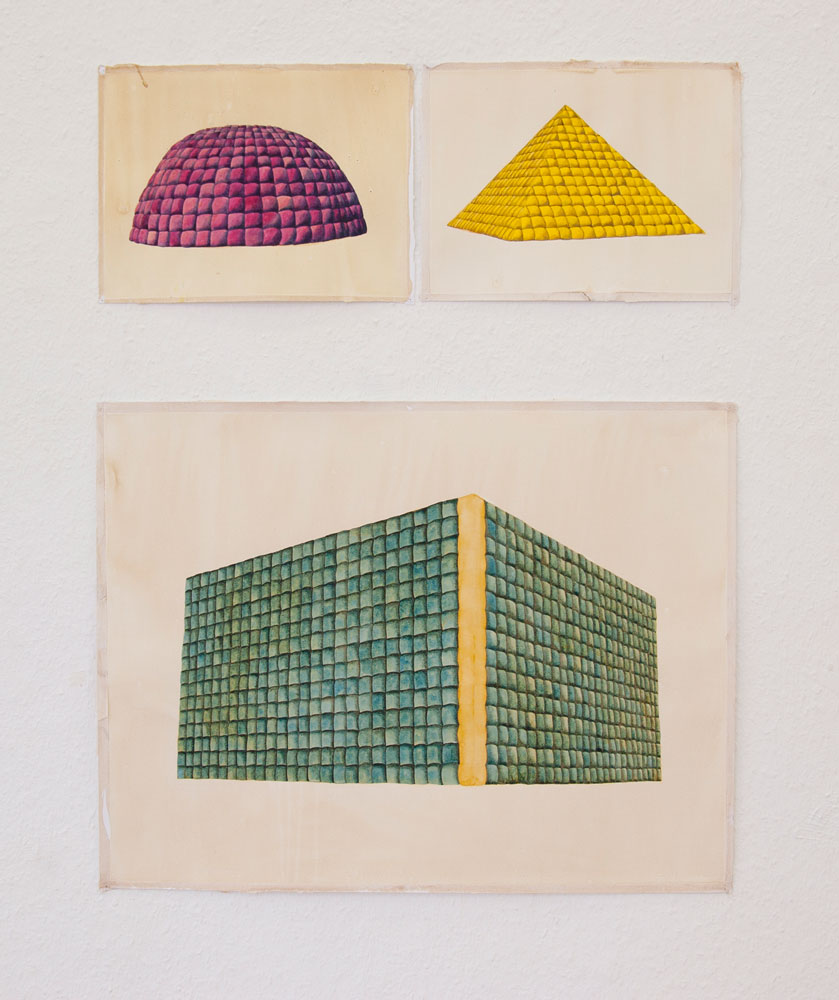 Soft Architecture,   Watercolor and ink on paper, 2011, Plan D, Düsseldorf, Germany