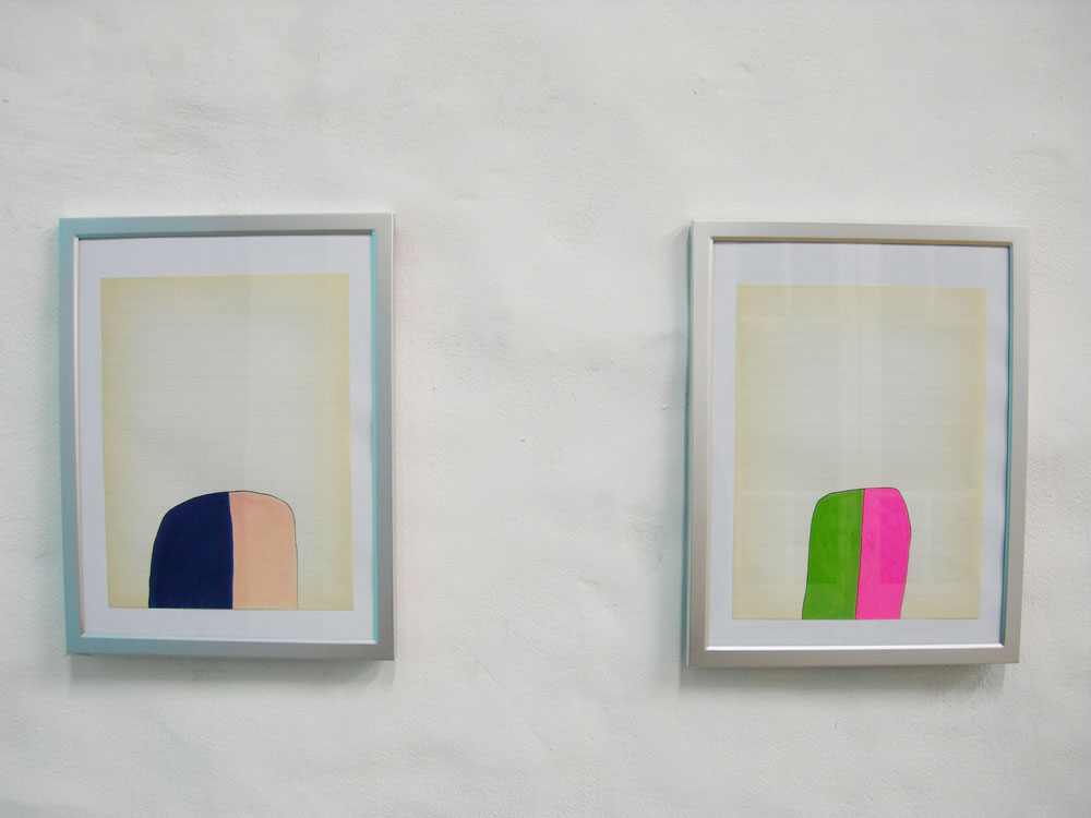 Studies for a Nihilist Curtain , enamel paint on antique school paper, 2006,  El Basilisco, Buenos Aires