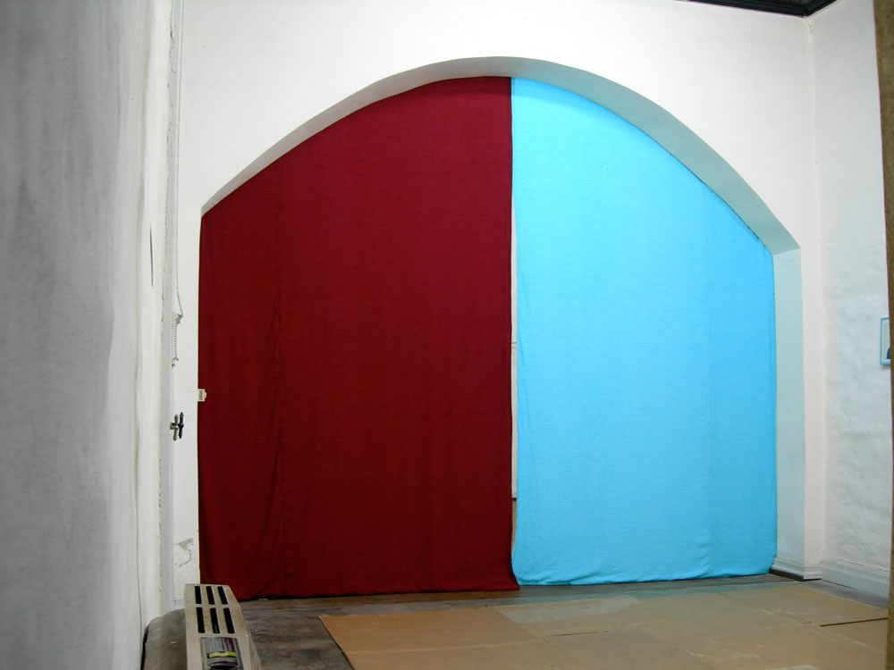 Studies for a Nihilist Curtain , terrycloth, velour, 2006,  El Basilisco, Buenos Aires