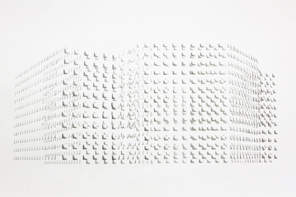Floating Structure II A  , graphite on paper,  40 x 70 cm, 2013