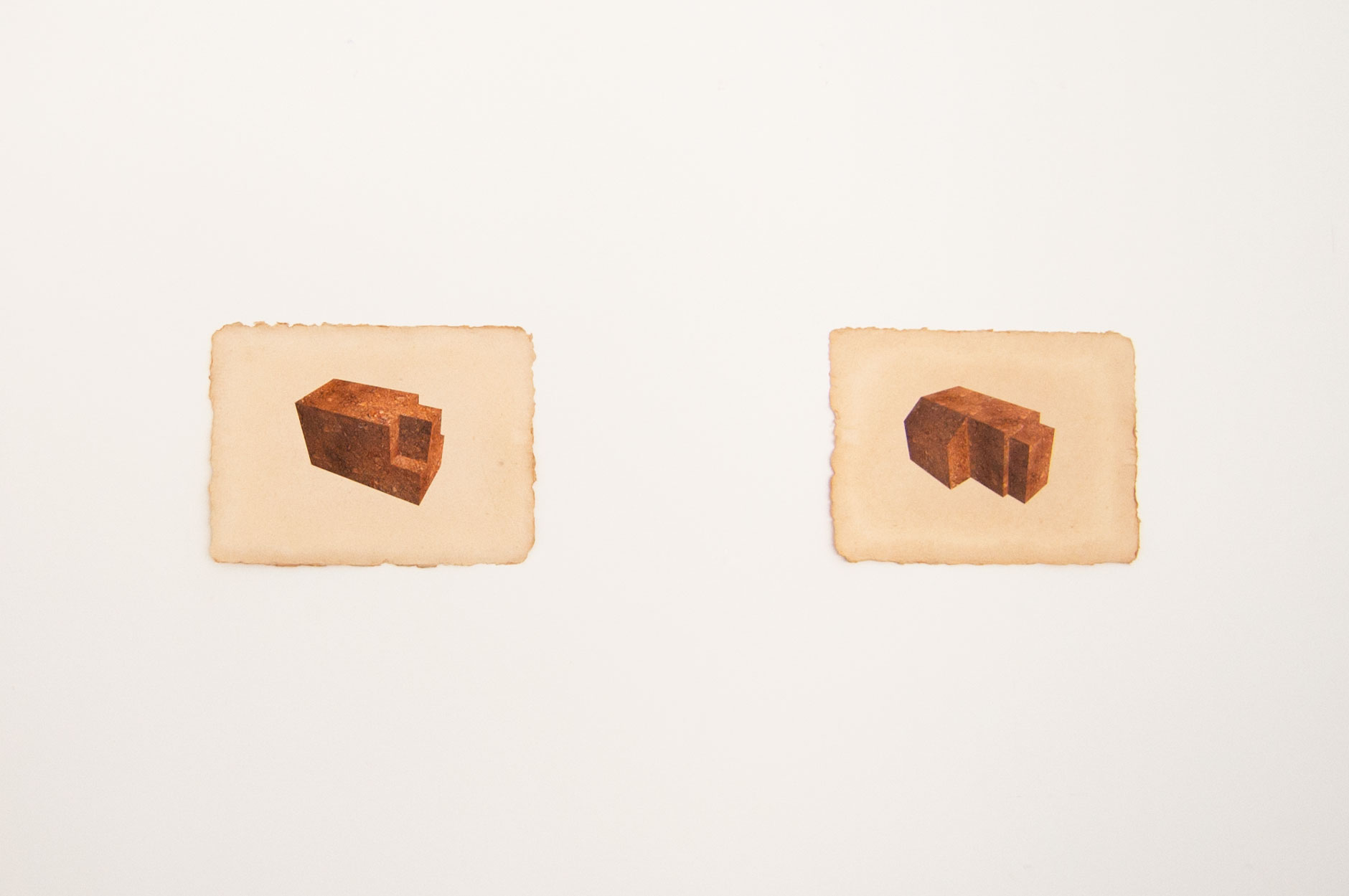 Peat Suite (Hermitages) , peat structures rendered using CAD, digital prints on handmade paper, 2014(photo: Kristin Reiman)