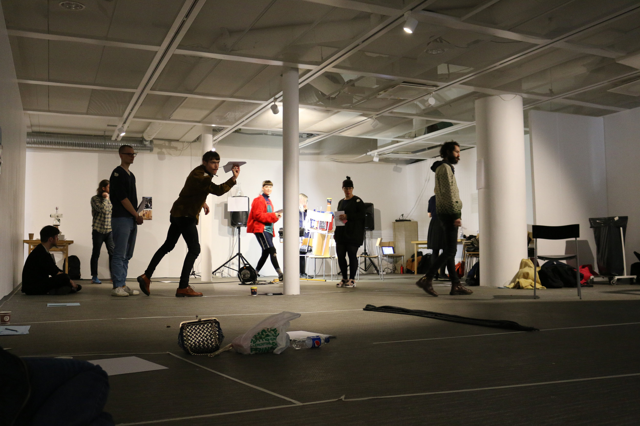"Cara Tolmie's workshop,""Tempo Trials: boredom, pleasure,metabolisms and worm-holes"""
