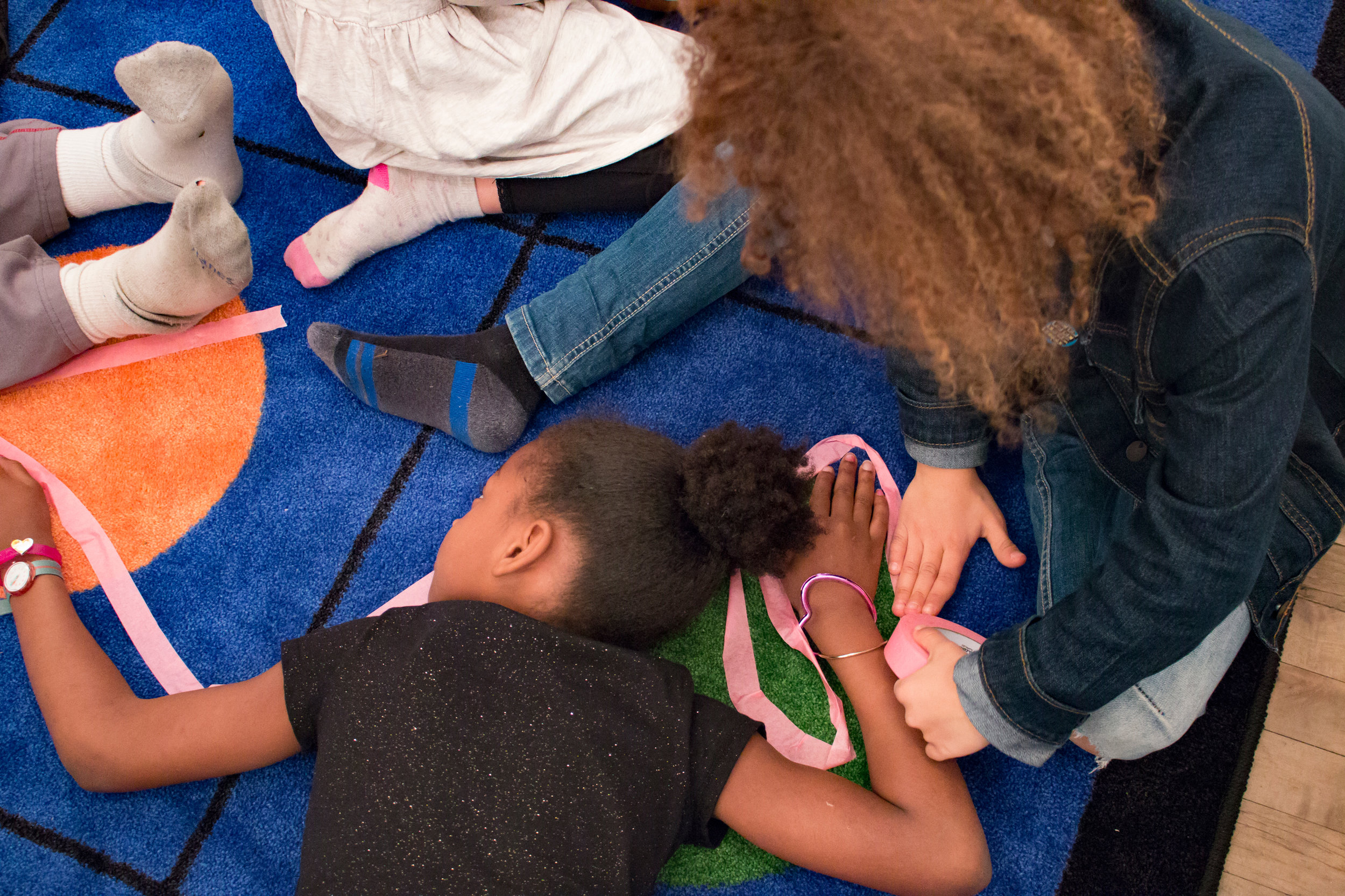 Documentation from workshop with students from The Neighborhood School, Artists Space, New York,