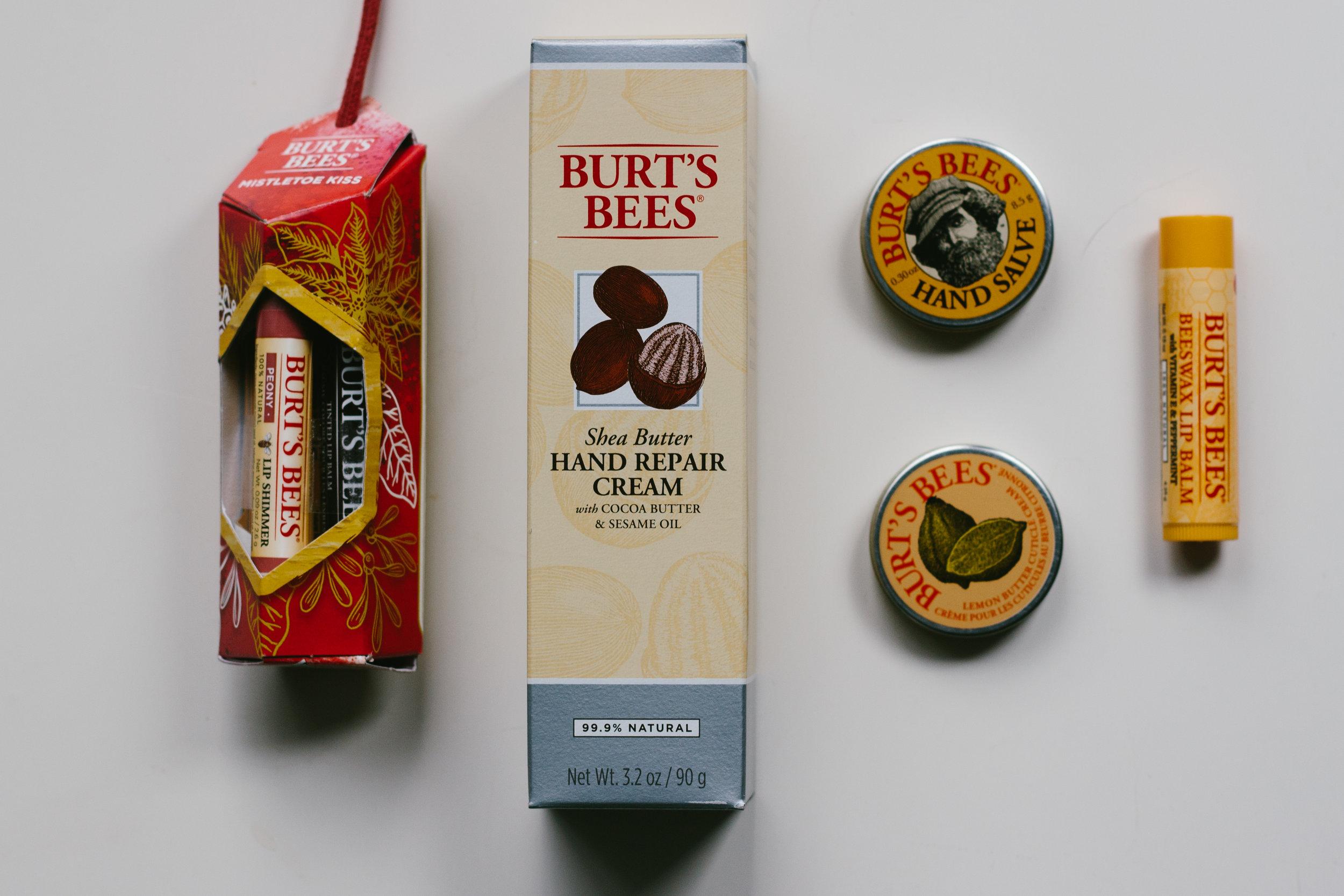 Burt's Bees - Mistletoe Kiss $9.99Naturally Soft Hands $19.99