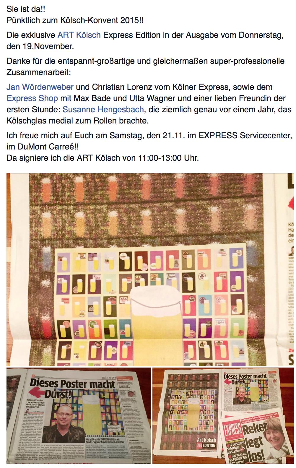 Art Print In Cologne's No 1 Newspaper