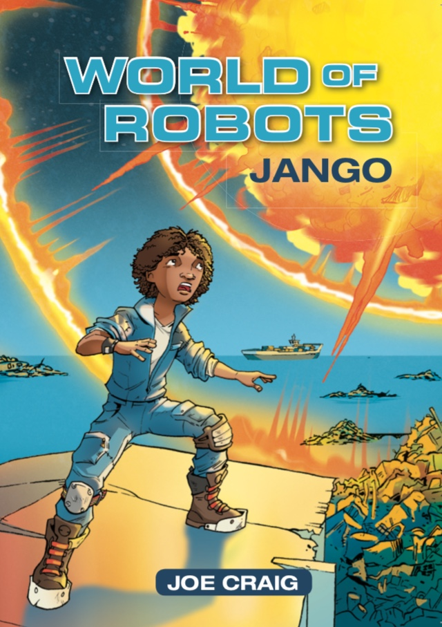 Book 1. Jango and his grandpa bring in something unexpected from the robot ships that patrol the ocean - something that doesn't belong in Jango's world.