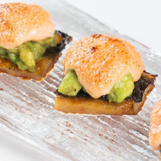 Baked Unagi with Avocado and Mentaiko Sauce