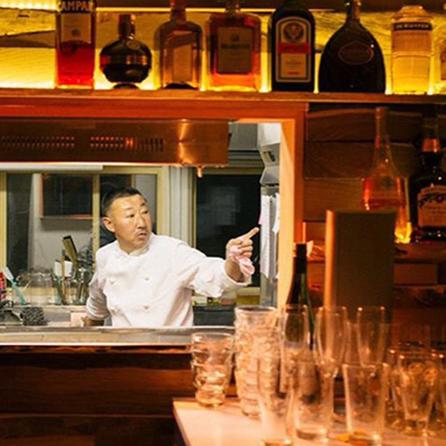 Chef YOSHI of Luckyfingers  #nyc #annupuri #niseko #tribeca #megu #wagyu