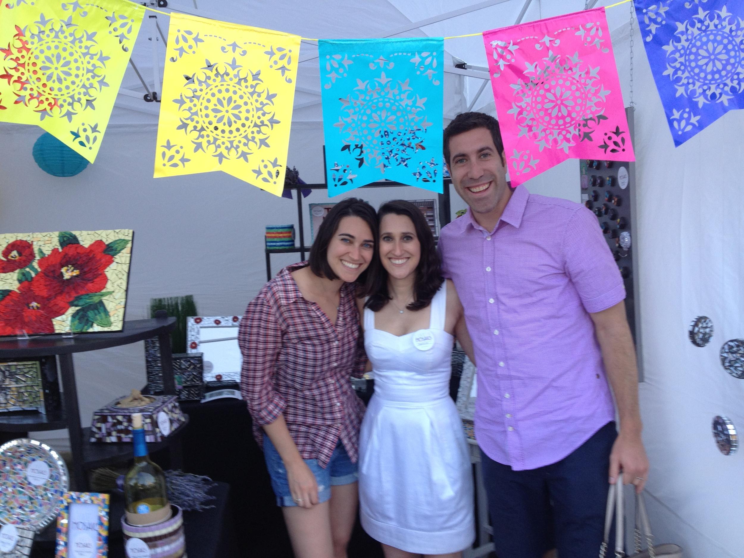 Stacey, me, Matt in Mosaics.jpg