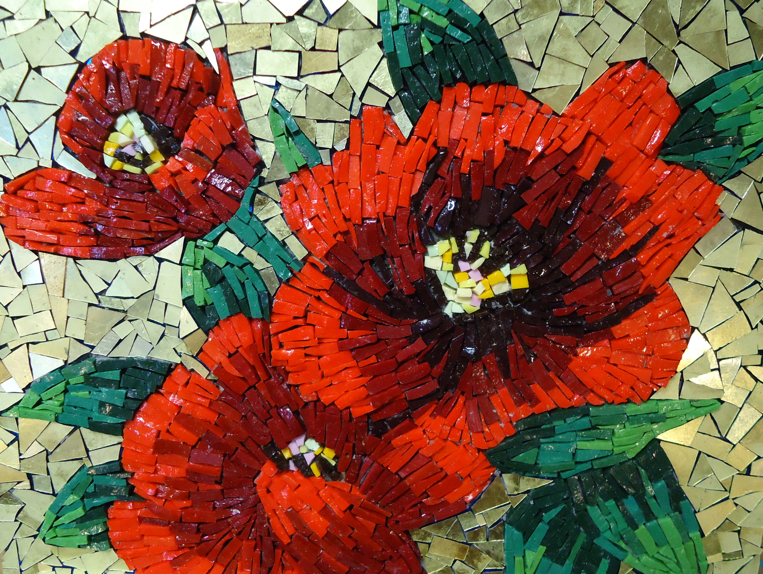 red flowers mosaic live in mosaics gold.jpg
