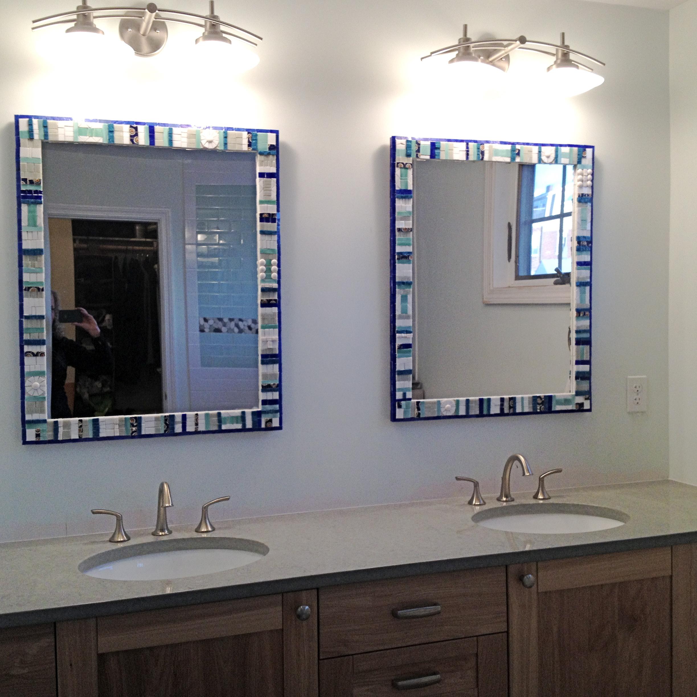 Custom Mosaic Bathroom Mirrors