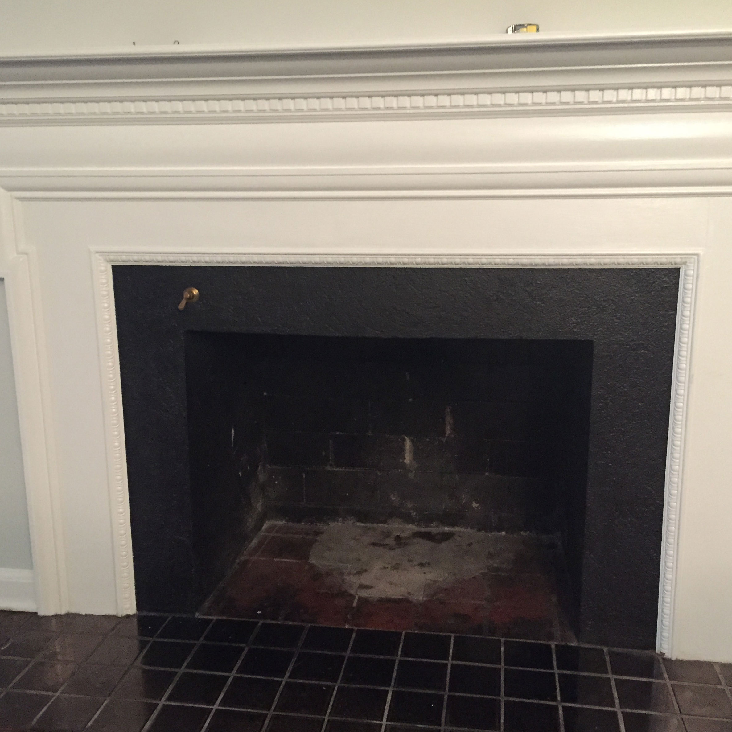 This was the fire place before -
